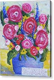 Choice Bouquet Acrylic Print