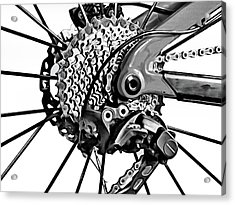 Acrylic Print featuring the digital art Choice Transport 2 Bw by Wendy J St Christopher