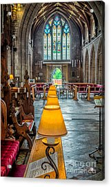Choir Lamps Acrylic Print by Adrian Evans
