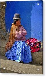 Cholita Acrylic Print by Skip Hunt