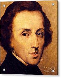 Chopin Acrylic Print by Ary Scheffer