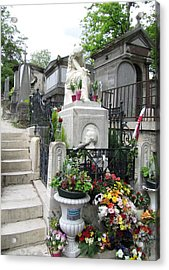Chopin Grave Paris Acrylic Print by Keith Stokes