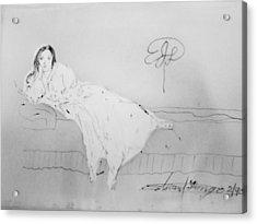 Chopin's Woman Acrylic Print