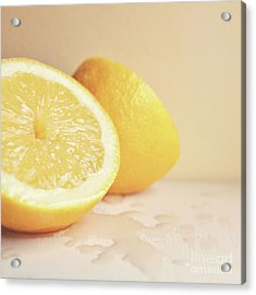 Chopped Lemon Acrylic Print by Lyn Randle
