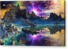 Chosen Hills Sunrise Acrylic Print by David Jackson