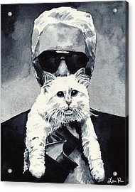 Choupette Cat And Karl Lagerfeld Acrylic Print