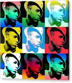 Chris Brown Warhol By Gbs Acrylic Print by Anibal Diaz