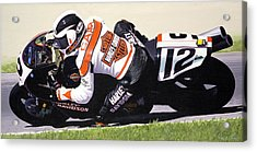 Chris Carr Harley-davidson Vr1000 Superbike Acrylic Print by Jeff Taylor