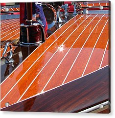 Acrylic Print featuring the photograph Chris Craft Bow by Michelle Calkins