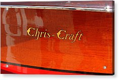 Acrylic Print featuring the photograph Chris Craft Logo by Michelle Calkins