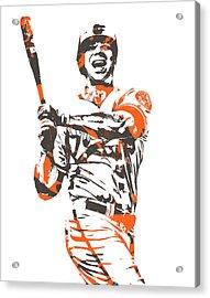 Chris Davis Baltimore Orioles Pixel Art 10 Acrylic Print