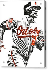 Chris Davis Baltimore Orioles Pixel Art Acrylic Print by Joe Hamilton