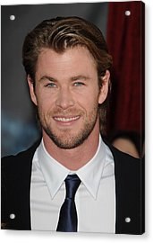 Chris Hemsworth At Arrivals For Thor Acrylic Print by Everett