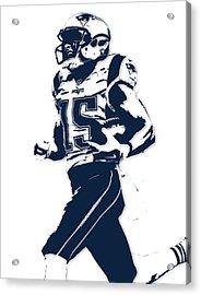 Chris Hogan New England Patriots Pixel Art Acrylic Print