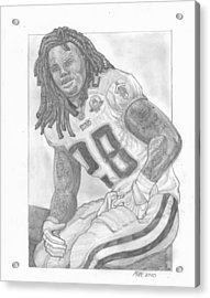 Chris Johnson Acrylic Print by Paul McRae