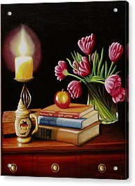 Acrylic Print featuring the painting Chrisie's Table by Gene Gregory