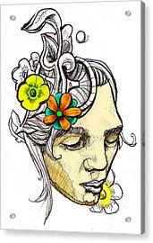 Chrissy Acrylic Print by John Baker