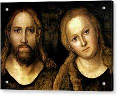 Christ And Mary Acrylic Print by Lucas Cranach the Elder