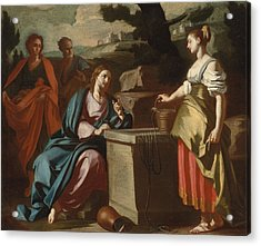 Christ And The Woman Of Samaria At The Well Acrylic Print by Francesco Solimena