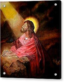 Christ At Gethsemane Acrylic Print by G Cuffia
