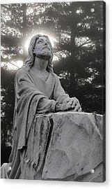 Christ At Prayer Acrylic Print by Robert  Suits Jr