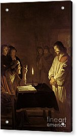 Christ Before The High Priest Acrylic Print by Gerrit van Honthorst