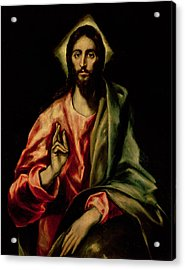 Christ Blessing Acrylic Print by El Greco