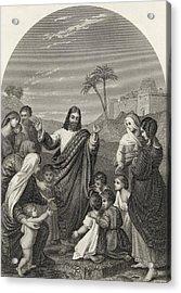 Christ Blessing The Little Children Acrylic Print