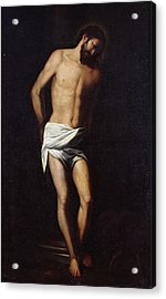 Christ Bound To The Column Acrylic Print
