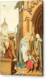 Christ Brought To Jerusalem Acrylic Print by Victor Paul Mohn