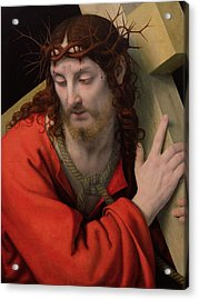 Christ Carrying The Cross Acrylic Print by Andrea Solario