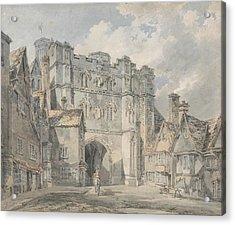Christ Church Gate Canterbury Acrylic Print by Joseph Mallord William Turner