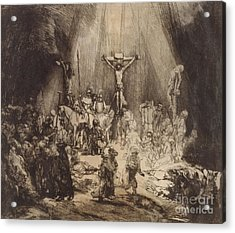 Christ Crucified Between The Two Thieves  The Three Crosses, 1653 Acrylic Print