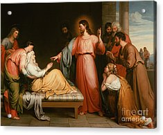 Christ Healing The Mother Of Simon Peter Acrylic Print by John Bridges