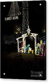 Christ Is Born Acrylic Print by Affini Woodley