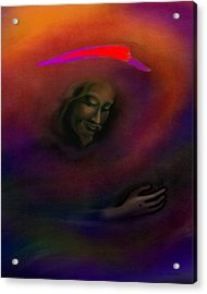 Acrylic Print featuring the painting Christ by Kevin Middleton