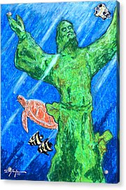 Christ Of The Deep Acrylic Print by William Depaula