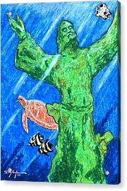 Christ Of The Deep Acrylic Print by William Depaula