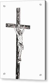 Christ On Cross Acrylic Print