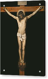 Christ On The Cross Acrylic Print by Diego Velasquez