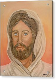 Acrylic Print featuring the painting Christ by Quwatha Valentine