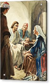 Christ Talking Acrylic Print by Henry Coller