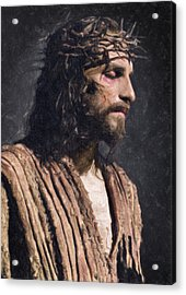 Christ Acrylic Print by Taylan Apukovska
