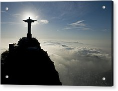 Christ The Redeemer Statue At Sunrise Acrylic Print by Joel Sartore