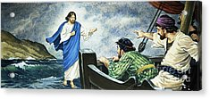 Christ Walking On The Water Acrylic Print by English School