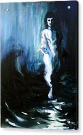 Christ Walking On The Water Acrylic Print by Jill Baker