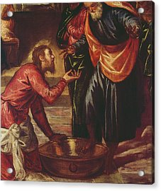 Christ Washing The Feet Of The Disciples Acrylic Print by Tintoretto