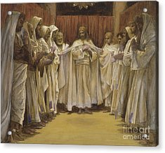 Christ With The Twelve Apostles Acrylic Print by Tissot