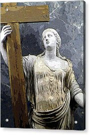 Christain Martyr Acrylic Print by Mindy Newman