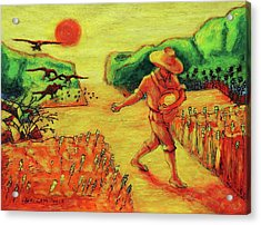 Christian Art Parable Of The Sower Artwork T Bertram Poole Acrylic Print by Thomas Bertram POOLE